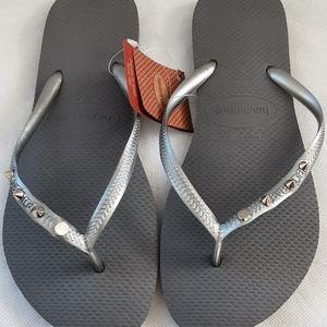 Havaianas Slim Steel Grey Size 39-40 US/AU 9-10